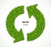 Flèche de vecteur d'herbe verte Photographie stock