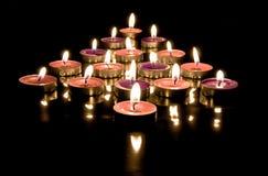Flèche des bougies Photos libres de droits