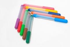 Flèche des stylos de fel-astuce Photos stock