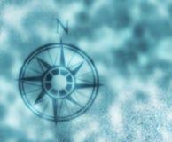 Flèche du nord de carte de compas Images libres de droits