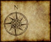 Flèche du nord de carte de compas Photo stock