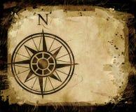 Flèche du nord de carte de compas Photographie stock libre de droits