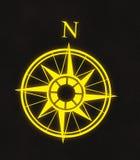 Flèche du nord de carte de compas Image libre de droits