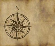 Flèche du nord de carte de compas Images stock