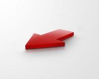 flèche du rouge 3d Images stock