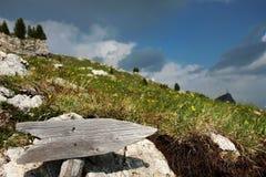 Flèche en bois Photo stock