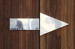 Flèche en métal Image libre de droits