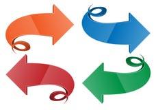 Flèche en spirale, illustration de vecteur Images libres de droits