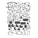Flèche et illustrations de vecteur de formes Photo libre de droits