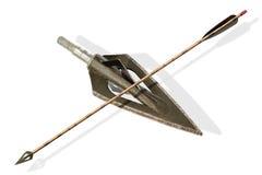 Flèche et tête de flèche Photo libre de droits