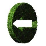 Flèche faite à partir des feuilles vertes 3d rendent Image libre de droits