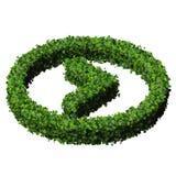 Flèche faite à partir des feuilles vertes 3d rendent Images libres de droits