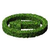 Flèche faite à partir des feuilles vertes 3d rendent Photo stock
