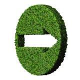 Flèche faite à partir des feuilles vertes 3d rendent Photographie stock libre de droits