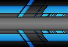 Flèche futuriste abstraite de gris bleu avec le vecteur moderne de fond de technologie de conception vide de centre spatial illustration stock