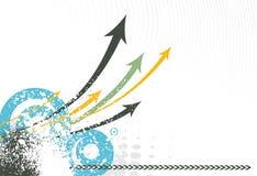 Flèche grunge illustration de vecteur