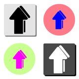 flèche Icône plate de vecteur illustration libre de droits