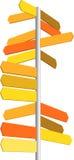 Flèche indicatrice Images libres de droits