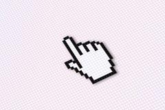 Flèche indicatrice d'écran Images libres de droits