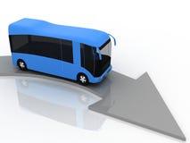Flèche indicatrice de mouvement de bus Photographie stock libre de droits