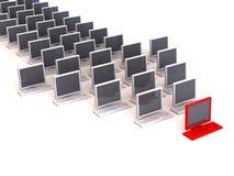 Flèche indicatrice de PC Photos libres de droits