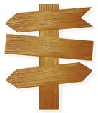Flèche indicatrice en bois. Photographie stock