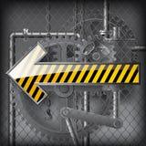 Flèche jaune Images libres de droits