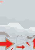 Flèche métallique illustration stock