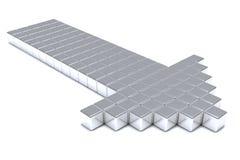Flèche métallique grise illustration de vecteur
