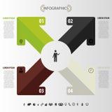 Flèche moderne Descripteur d'Infographic Vecteur Image libre de droits
