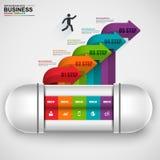 Flèche numérique abstraite Infographic des affaires 3D Photographie stock