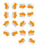 Flèche orange Photographie stock libre de droits