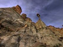 Flèche périlleuse de roche Photographie stock libre de droits