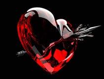 Flèche par le coeur illustration stock