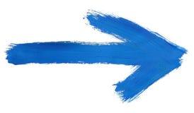 Flèche peinte à la main Photographie stock libre de droits