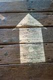 Flèche peinte Image libre de droits