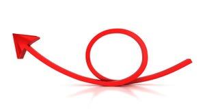 Flèche ronde rouge Photographie stock libre de droits