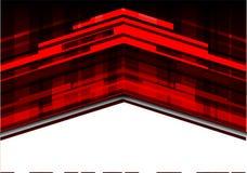 Flèche rouge abstraite sur le vecteur futuriste de fond de technologie moderne blanche de conception Photos stock