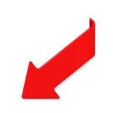 Flèche rouge d'isolement sur le blanc illustration libre de droits