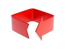 Flèche rouge pliée Photographie stock libre de droits