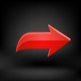 Flèche rouge Vecteur Photographie stock libre de droits
