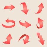 Flèche rouge Vecteur Image libre de droits