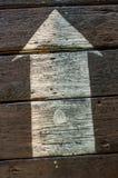 Flèche sur le plancher Photographie stock