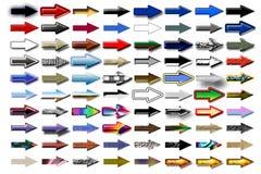 Flèches 12 d'illustration Images libres de droits