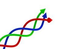 flèches 3d Images libres de droits
