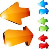 flèches 3d. Images libres de droits