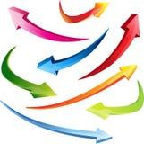 flèches 3d réglées Images stock