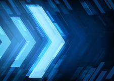 Flèches abstraites de technologie Images stock
