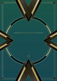 Flèches Art Deco Background Photo stock