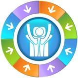 Flèches avec la roue - massage Illustration de Vecteur